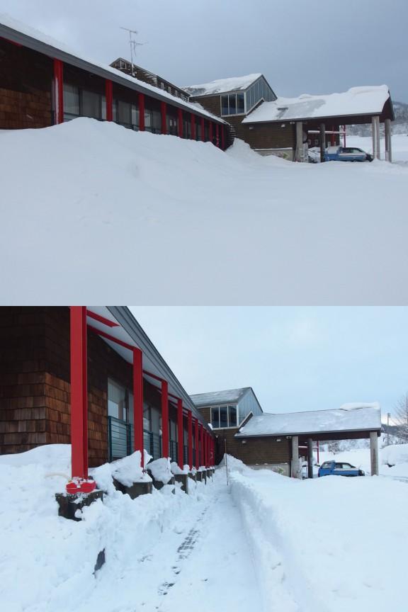 雪かきビフォーアフター