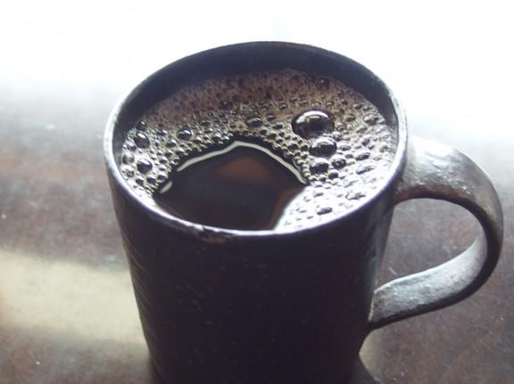 朝のコーヒーは格別です。