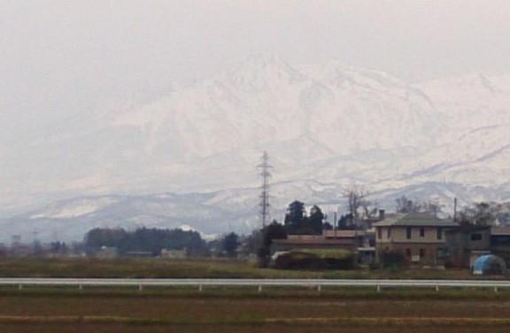 妙高山もうっすら見えていました。