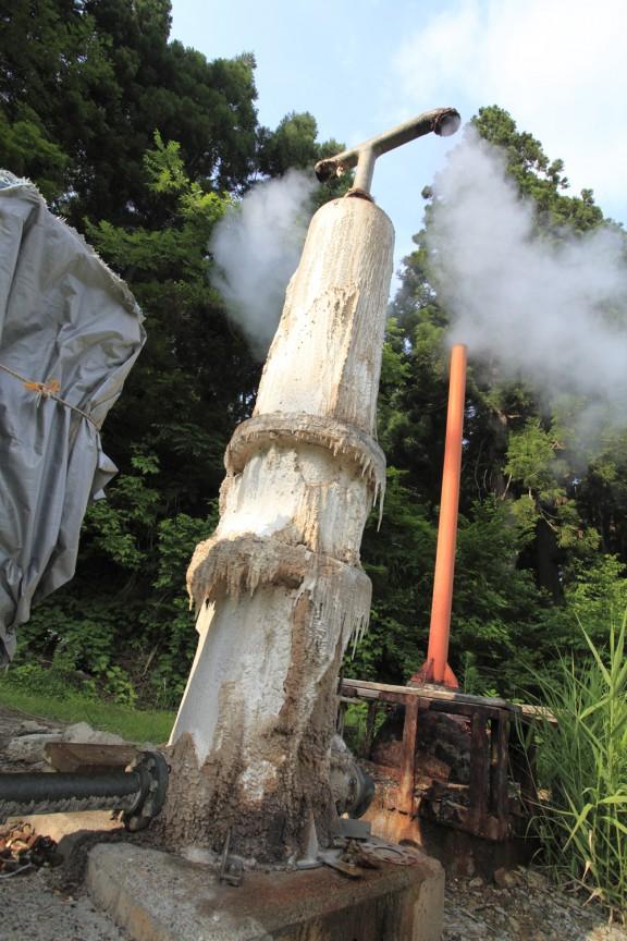 ナステビュウ湯の山の源泉井戸