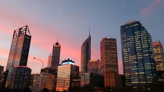 オーストラリア パースの夕焼け