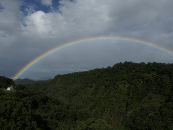 虹の写真です。