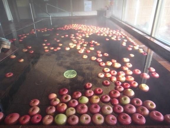 リンゴ風呂は人気があります。